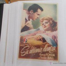 Cine: SU ULTIMA DANZA SENCILLO SIN PUBLICIDAD. . Lote 49484819