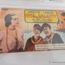 Cine: RUTA DE SINGAPUR. SENCILLO SIN PUBLICIDAD. . Lote 49487380