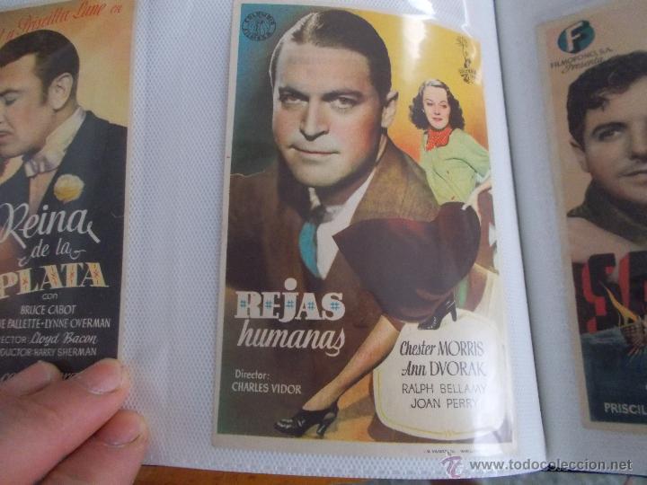 REJAS HUMANAS SENCILLO SIN PUBLICIDAD. (Cine - Folletos de Mano - Drama)