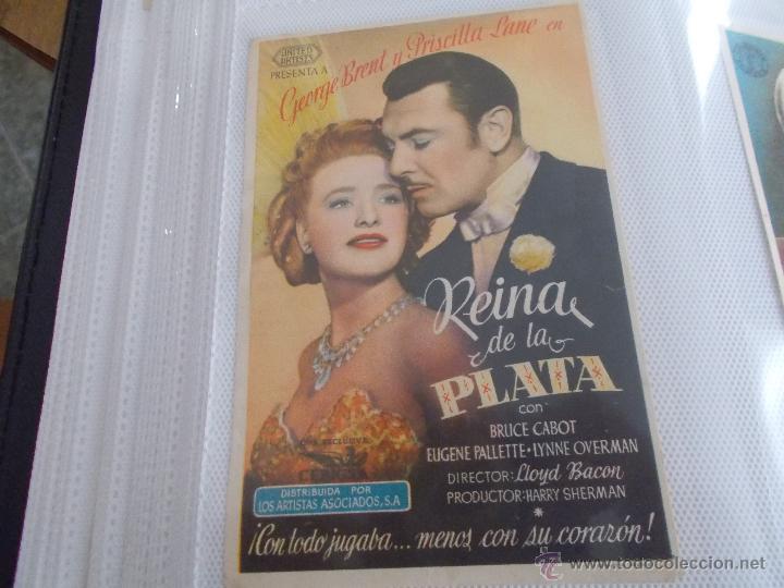 REINA DE LA PLATA SENCILLO SIN PUBLICIDAD. (Cine - Folletos de Mano - Drama)