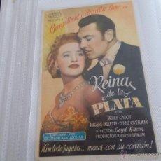 Cine: REINA DE LA PLATA SENCILLO SIN PUBLICIDAD. . Lote 49491512