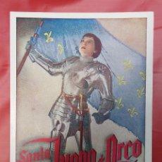 Cine: 1936 SANTA JUANA DE ARCO - PROGRAMA DE CINE - UFA TARJETA. Lote 49501278