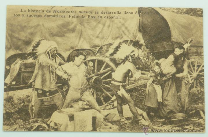 HORIZONTES NUEVOS PROGRAMA MANO PELÍCULA TEATRO ROSALÍA CASTRO 1931 (Cine - Folletos de Mano - Westerns)