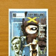 Cine: EL HOMBRE CON RAYOS X EN LOS OJOS - RAY MILLAND - PUBLICIDAD CINE TARRAGONA. Lote 2413538
