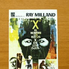 Cine: EL HOMBRE CON RAYOS X EN LOS OJOS - RAY MILLAND - PUBLICIDAD SELLO CINE VICTORIA - ROTA. Lote 49510776