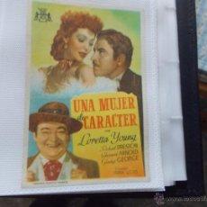Cine: UNA MUJER DE CARACTER. SENCILLO SIN PUBLICIDAD.. Lote 49512985