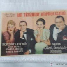 Cine: UN TENORIO IMPROVISADO SENCILLO SIN PUBLICIDAD.. Lote 49513897