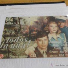 Cine: TODOS A UNA SENCILLO SIN PUBLICIDAD.. Lote 49514172