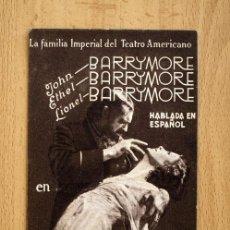 Cine: RASPUTIN Y LA ZARINA - JOHN BARRYMORE, LIONEL BARRYMORE - PUBLICIDAD TEATRO ESPAÑOL - ALGEMESI. Lote 27059439