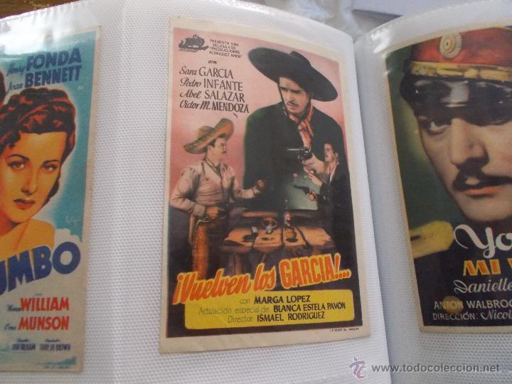 VUELVEN LOS GARCIA SENCILLO SIN PUBLICIDAD (Cine - Folletos de Mano - Westerns)