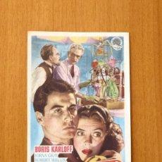 Cine: LA HORCA FATAL - BORIS KARLOFF - PUBLICIDAD CINE VICTORIA. Lote 12636769