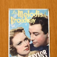 Cine: LA MELODIA DE BROADWAY - ROBERT TAYLOR, ELEANOR POWELL. Lote 2421515