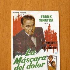 Cine: LA MÁSCARA DEL DOLOR - FRANK SINATRA, MITZI GAYNOR, JEANNE CRAIN - PUBLICIDAD CINE PRINCIPAL. Lote 2421571
