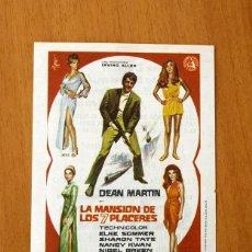 Cine: LA MANSIÓN DE LOS 7 PLACERES - DEAN MARTIN, ELKE SOMMER - PUBLICIDAD CINE COLISEUM - SANTANDER. Lote 2421616
