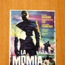 Cine: LA MOMIA - PETER CUSHING, CHRISTOPHER LEE - PUBLICIDAD CINE TARRAGONA. Lote 2421620
