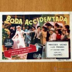 Cine: BODA ACCIDENTADA - MERCEDES VECINO, LUIS PRENDES, PACO MARTINEZ SORIA. Lote 14612162