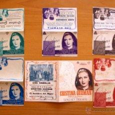 Cine: CRISTINA GUZMÁN PROFESORA DE IDIOMAS - SEIS PROGRAMAS DIFERENTES - CON PUBLICIDAD. Lote 28456920