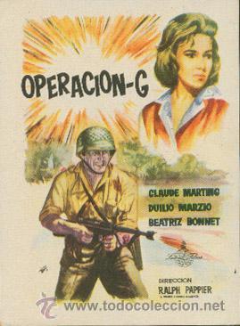 OPERACIÓN-G (Cine - Folletos de Mano - Bélicas)