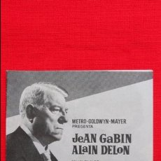 Cine: GRAN JUGADA EN LA COSTA AZUL, IMPECABLE DOBLE, JEAN GABIN ALAIN DELON, CON PUBLICIDAD MONTERROSA. Lote 49599909