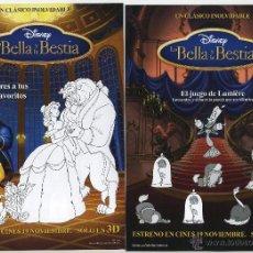 Cine: LA BELLA Y LA BESTIA. DIBUJOS ANIMADOS.. Lote 53517362