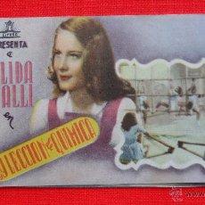 Cine: A LAS 9 LECCION DE QUIMICA, IMPECABLE DOBLE, ALIDA VALLI, CON BONITA PUBLICIDAD CINE SAN JUAN. Lote 49618491