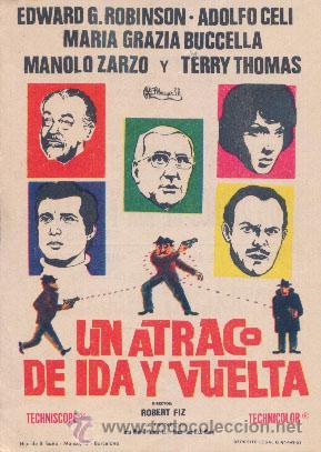 UN ATRACO DE IDA Y VUELTA (Cine - Folletos de Mano - Comedia)