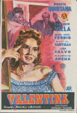 VALENTINA (Cine - Folletos de Mano - Comedia)