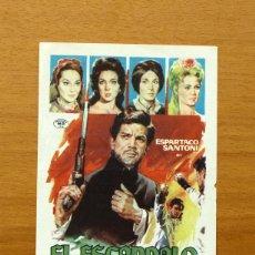 Cine: EL ESCANDALO - ESPARTACO SANTONI - PUBLICIDAD CINE BOSTON - BENICALAP. Lote 177629660