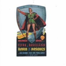 Cine: FOLLETO DE MANO ROBÍN DE LOS BOSQUES 1949 CINE VERSALLES MALLORCA ERROL FLYNN OLIVIA DE HAVILLAND. Lote 49639858