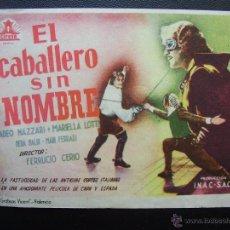 Cine: EL CABALLERO SIN NOMBRE, AMADEO NAZZARI. Lote 49715489
