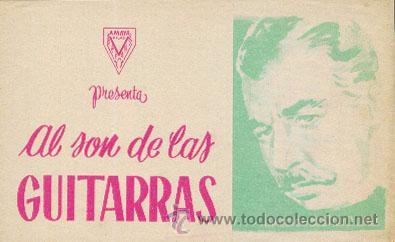 AL SON DE LAS GUITARRAS (CON PUBLICIDAD) (Cine - Folletos de Mano - Musicales)