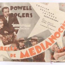 Cine: PROGRAMA DOBLE *ESTRELLA DE MEDIANOCHE* 1941 WILLIAM POWELL GINGER ROGERS CINE MAVI SAHAGÚN LEÓN. Lote 49758723
