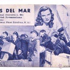 Cine: PROGRAMA TARJETA UNIVERSAL FILMS *HEROES DEL MAR* ELLA RAINES RANDOLPH SCOTT JAMES BROWN. Lote 49759092