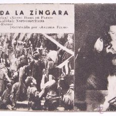 Cine: PROGRAMA TARJETA RKO RADIO ASTORIA FILMS *ESMERALDA LA ZINGARA* CHARLES LAUGHTON MAUREEN O'HARA. Lote 49759230