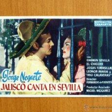 Cine: JALISCO CANTA EN SEVILLA - CARMEN SEVILLA, JORGE NEGRETE, EL CHICOTE, JESUS TORDESILLAS. Lote 49778286