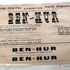 Cine: BEN HUR - PROGRAMA CINE MUDO DOBLE PASQUIN LOCAL ORIGINAL ESTRENO 1925. Lote 49785694