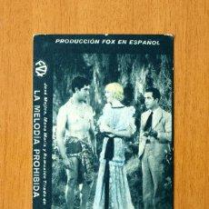 Cine: LA MELODIA PROHIBIDA - JOSE MOJICA, MONA MARIS - PUBLICIDAD CINE BENLLIURE - TEATRO MARINA -VALENCIA. Lote 49788296
