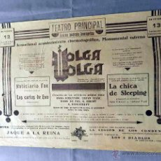 Cine: VOLGA VOLGA 1938 PROGRAMA DOBLE PASQUIN ORIGINAL ESTRENO. Lote 49840391