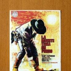 Flyers Publicitaires de films Anciens: LA MUERTE TENIA UN PRECIO - CLINT EASTWOOD, LEE VAN CLEEF. Lote 49875913
