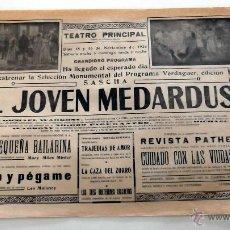 Cine: EL JOVEN MEDARDUS 1924 PROGRAMA CINE MUDO DOBLE PASQUIN LOCAL ORIGINAL ESTRENO. Lote 49888063