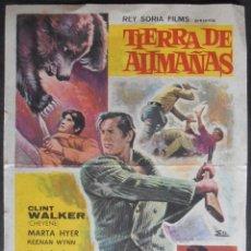 Cine: TIERRA DE ALIMAÑAS,FOLLETO DE MANO, (7061),CONSERVACION,VER FOTOS. Lote 49892646