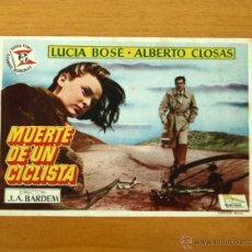 Cine: MUERTE DE UN CICLISTA - LUCIA BOSÉ, ALBERTO CLOSAS - PUBLICIDAD CINE FEMINA . Lote 49918094