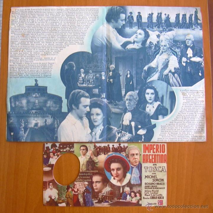 Cine: Tosca - dos programas diferentes - Imperio Argentina - Publicidad Cine Echegaray - Foto 2 - 32936739