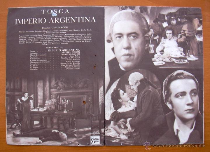 Cine: Tosca - dos programas diferentes - Imperio Argentina - Publicidad Cine Echegaray - Foto 3 - 32936739