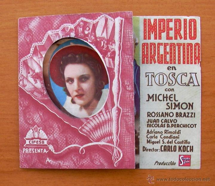 Cine: Tosca - dos programas diferentes - Imperio Argentina - Publicidad Cine Echegaray - Foto 5 - 32936739
