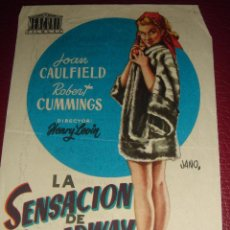 Cine: LA SENSACION DE BROADWAY. JOAN CAULFIELD. JANO. TEATRO CAMPOAMOR 1954. Lote 50001788