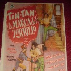 Cine: TIN-TAN,LA MARCA DEL ZORRILLO. SYLVIA PINAL. CINE SANTACRUZ 1952. Lote 50003240