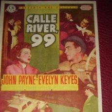 Cine: CALLE RIVER,99. JOHN PAYNE, EVELYN KEYES. SELLO CINE BRAFIM 1955. Lote 50005761