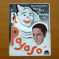 Cine: EL PAYASO - ROBERTO REY, MEG LEMONNIER - PUBLICIDAD CINE KURSAAL. Lote 50045930