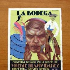 Cine: LA BODEGA - COCHITA PIQUER, VALENTIN PARERA - PROGRAMA DE CINE. Lote 50046987